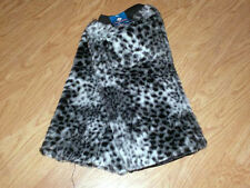 Furry Fur Warm Animal Print LEG WARMERS leggings leopard cheetah zebra