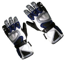 New Cowhide Blue Leather Keprotec  Motorbike Motorcycle Biker Gloves Collection