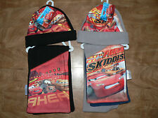 BOYS DISNEY PIXAR CARS  2 PIECE FLEECE HAT & SCARF SET AGE 3-5 & 6-8 YEARS