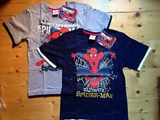 SPIDERMAN PACK OF TWO T-SHIRTS (1xgrey/1xblue) - 100% genuine - great pictures