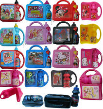 NEW KIDS CHILDRENS CHARACTER SCHOOL LUNCH BOX / BAG WITH WATER BOTTLE ATTACHED