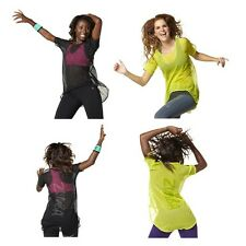 Authentic New in Package Zumba Jazzy Top Black,  Purple,  Lime  XS/S or M/L  NWT
