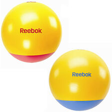 Reebok Two Tone Gym Exercise Ball Swiss Yoga with DVD & Pump Size 55, 65 & 75cm