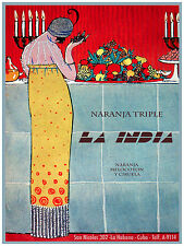 813.La India Triple Naranja Art Decor POSTER.Graphics to decorate home office.