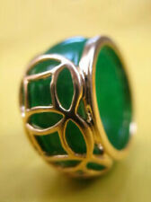 Green Jade 18KGP Coin Fortune Ring size: 8. 9. 10