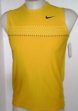 "New NIKE Boys Fit Dry ""RAFA"" Sleeveless Tank Top Yellow 337263-761"