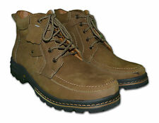Mens Leather Nubuck Boots, Colour Brown & Beach, Size 6 to 11 Free Postage!!