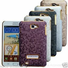 Snake Pattern Chrome Effected Back Case Cover Skin For Samsung Galaxy Note i9220