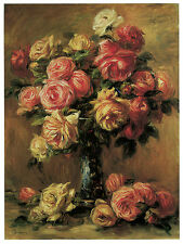 1251 Roses paint Floral Art Decoration POSTER.Graphics to decorate home office.