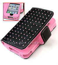 Dot PU Leather Wallet Pouch Case Cover Skin Protector For iPod touch 4 Gen 4th