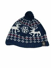 Genuine Christy's Crown Series Chunky Knitted Beanie Hat Christmas Design