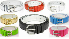 New REGULAR BONDED LEATHER Belt Womens Ladies - S M L XL - 10 Colors