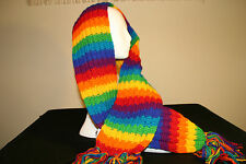 rainbow wool multi-color scarf