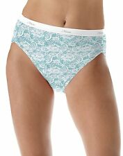 Hanes Women's No Ride Up Cotton Hi-Cut Panties 6-Pack style PP43WB