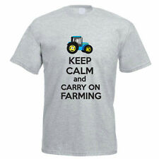 KEEP CALM AND CARRY ON FARMING - Farm / Farmer / Animals Themed Mens T-Shirt