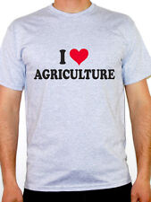 I LOVE AGRICULTURE - Farming / Animals / Plant / Novelty Themed Mens T-Shirt