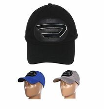 NWT DIESEL UNISEX FASHION CARKAB CAP BIG D LOGO BASEBALL CAP HAT BLACK BLUE
