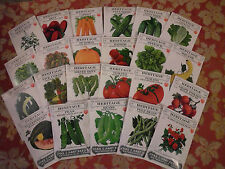 HEIRLOOM SEEDS VEGETABLE SEED HERITAGE SEED 23 Choices NON GE NON TREATED NO GMO