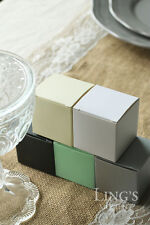 """Lot of 50 100 200 Candy Chocolate Gift Boxes 2""""x2""""x2"""" Wedding Party Favor"""