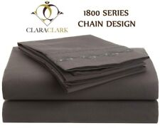 1800 SERIES DEEP POCKET 4 PIECE BED SHEET SET Chain Design 12 Colors / All Sizes