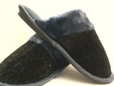 BLACK AND GREY HOUSE SHOES  SLIPPERS NEW FREE SHIPPING SIZE 5 THRU 10