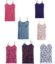 NWT AEROPOSTALE LACE CAMI  WITH SHELF BRA  SOLIDS AND PRINTS PRETTY
