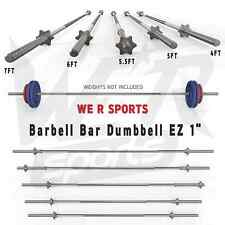 """BARBELL BAR DUMBBELL WEIGHT LIFTING SPINLOCK TRICEPS CURL BAR HOME FITNESS EZ 1"""""""
