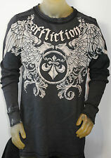 NWT AFFLICTION MENS 'PRIMITIVE' REVERSIBLE GRAPHIC THERMAL SHIRT SIZES: L-3XL