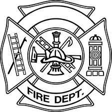 NEW Firefighter Badge quote sticker decal wall window art home decor removable