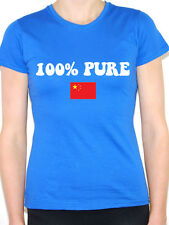 100% PURE CHINESE - China / Far East / Flag / Novelty Themed Womens T-Shirt