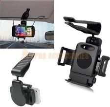 360° Car Sun Visor Mount Holder Cradle Kit For Various Mobile Phones & GPS