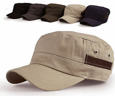 Men's Cadet Military Hat Trucker Visor Cap Unisex High Quality Korea Style