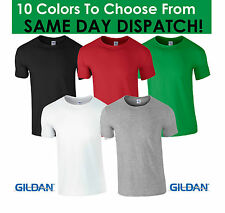 GILDAN PLAIN T SHIRT TSHIRT WHITE BLACK GREEN BLUE RED SUMMER HEAVY COTTON COOL