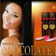 "EVERTRESS CHOCOLATE YAKY WEAVE EXTENTION 16"" 100% HUMAN HAIR"
