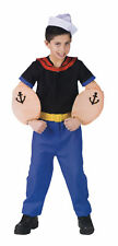 Popeye The Sailor Man Funny Toddler Child Costume Boy 3T 4T Kids Party Halloween