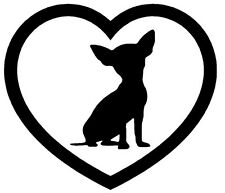 CHIHUAHUA HEART VINYL DECAL STICKER DOG BREED PUPPY CHOOSE COLOR