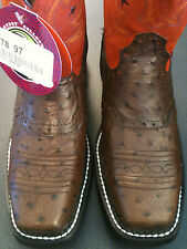 Justin Gypsy Womens Western Short top boots, Brown Ostrich Print, NWT