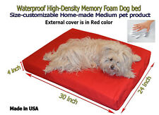 """Waterproof 30""""x24""""x4"""" Memory Foam Dog bed with Durable Velcro cover"""