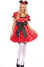 Ladies Costume Fancy Dress Up Minnie Mickey Mouse Disney  Sz 6,8,10,12,14,16