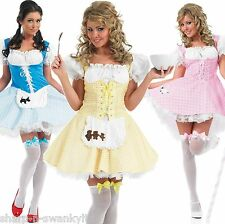 Bo Peep Miss Muffet Dorothy Goldilocks Fancy Dress Costume Outfit 8-26 Plus Size