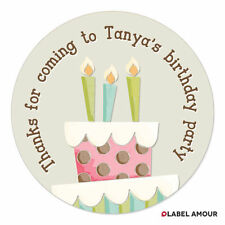 PERSONALISED Birthday Thank You Gift Party Bags Favour Sticker Labels -  027