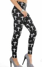 WOMENS BIG CROSS FULL LENGTH LADIES LEGGING GIRLS GOOD QUALITY SUMMER TIGHTS !!!