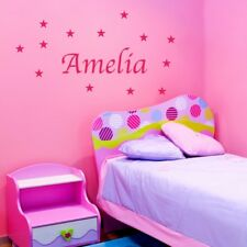 PERSONALISED STAR wall stickers for kids girls bedroom wall decal