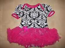 BOUTIQUE BABY GIRL/CHILD TUTU STYLE DRESS ROMPER SIZES 0-18 MONTHS DIFF COLOURS