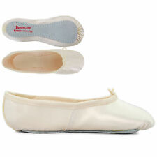 Ivory Bridemaid Full Sole Satin Ballet Shoes Ladies Girls By Dance Gear ISSS