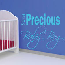 SWEET PRECIOUS BABY BOY quote wall stickers kids bedroom wall decals