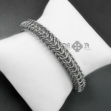 Stainless Steel Persian Dragonscale Chain Mail Bracelet - Handmade Rope Maille