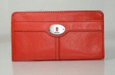 Fossil Maddox Marlow Leather Zip Around Large Wallet Purse Clutch Bag NWT