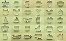 30 Shapes Buscuit/Cookie/Cake/Jelly Metal Cutter Tin Mould Baking DIY tool NEW