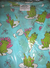 MEDICAL UNIFORM SCRUB TOP AQUA GREEN FROG PRINT NEW XS SM MED LG XL